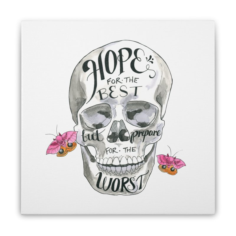 Hope for the Best Home Stretched Canvas by mwashburnart's Artist Shop
