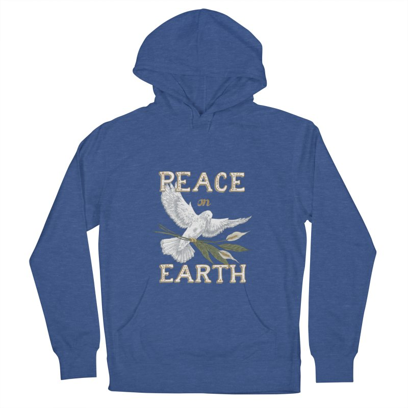Peace Dove Men's French Terry Pullover Hoody by mwashburnart's Artist Shop