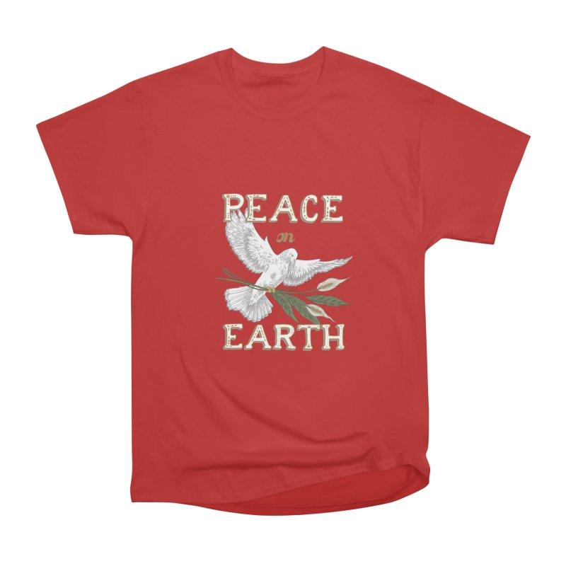 Peace Dove Women's Heavyweight Unisex T-Shirt by mwashburnart's Artist Shop