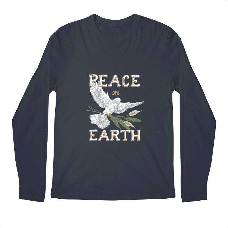 Peace Dove Men's Regular Longsleeve T-Shirt by mwashburnart's Artist Shop