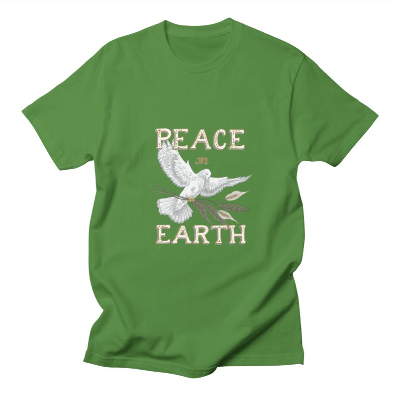 Peace Dove Women's Regular Unisex T-Shirt by mwashburnart's Artist Shop