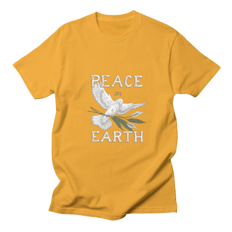 Peace Dove Men's Regular T-Shirt by mwashburnart's Artist Shop