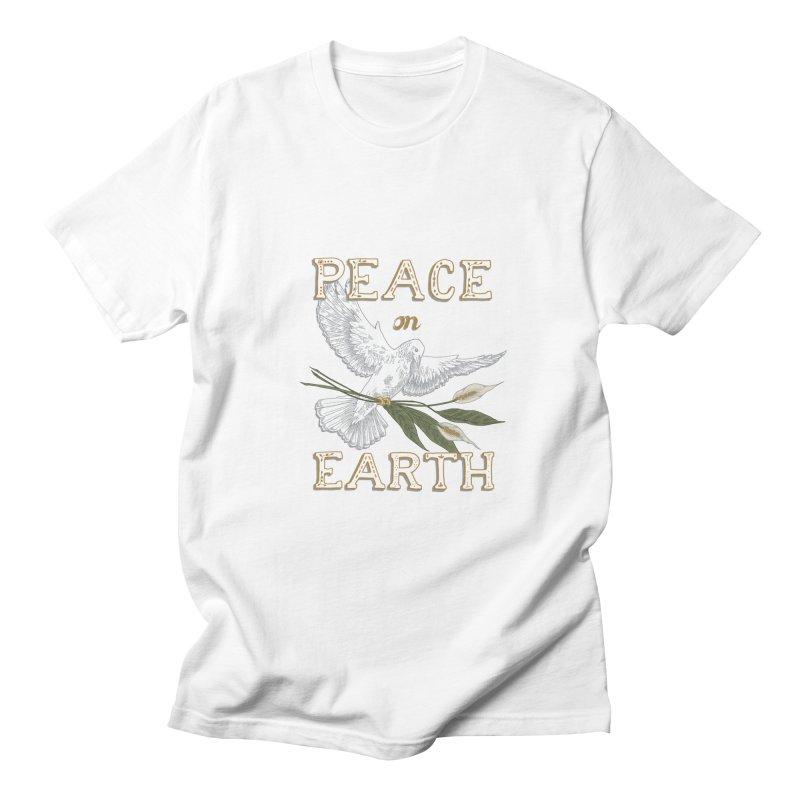 Peace Dove Men's Regular T-Shirt by mwashburnart's Artist Shop