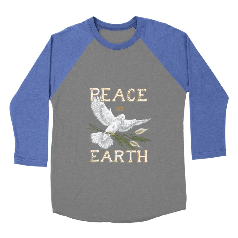Peace Dove Men's Baseball Triblend Longsleeve T-Shirt by mwashburnart's Artist Shop