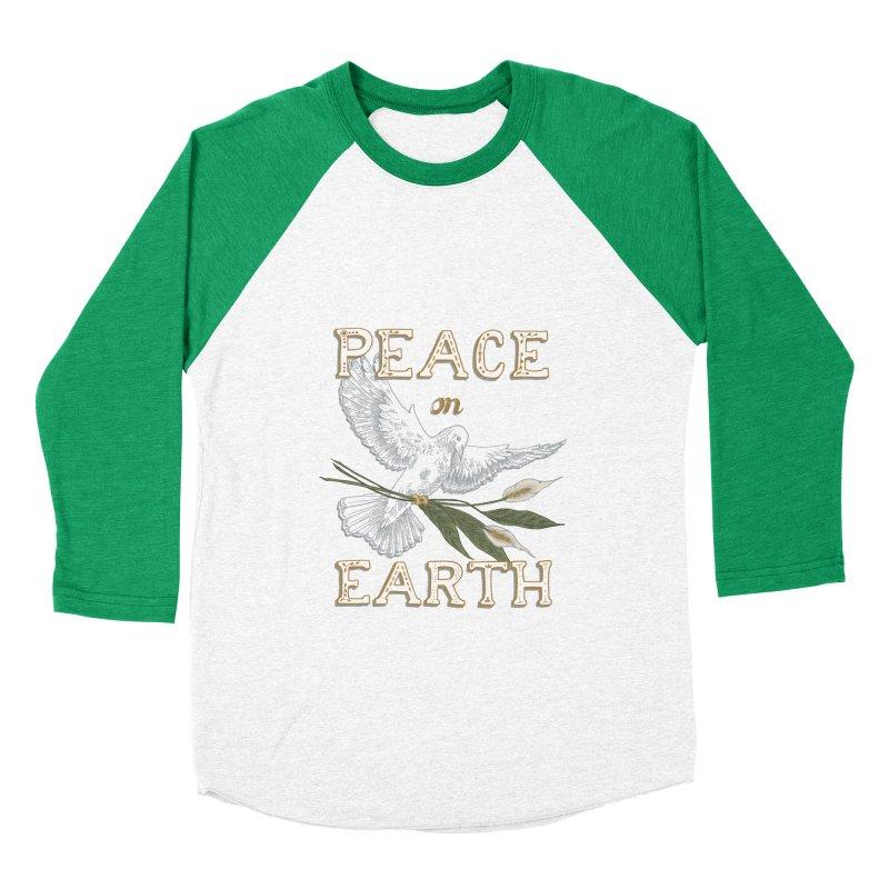 Peace Dove Men's Baseball Triblend Longsleeve T-Shirt by mwashburnart's Artist Shop