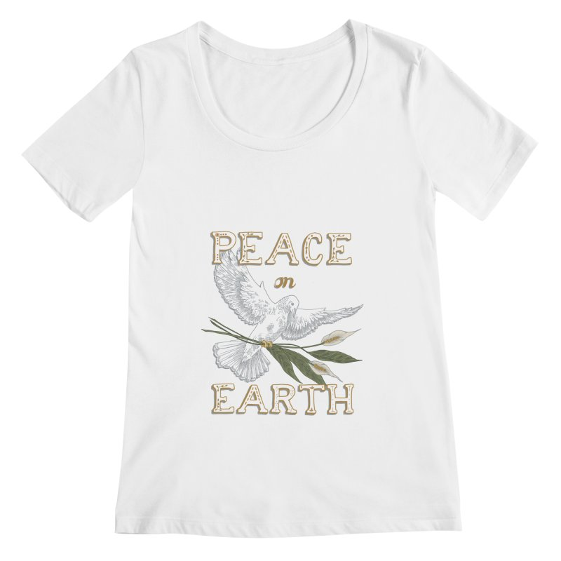 Peace Dove Women's Regular Scoop Neck by mwashburnart's Artist Shop