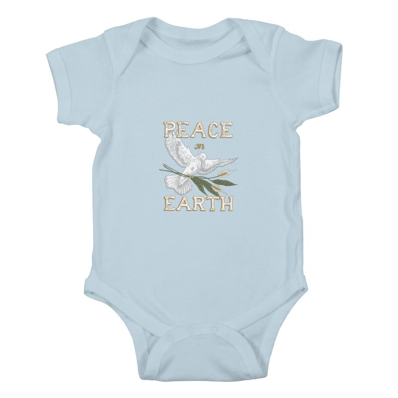 Peace Dove Kids Baby Bodysuit by mwashburnart's Artist Shop