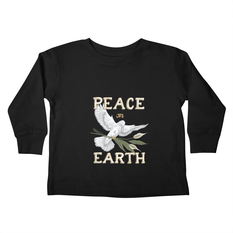 Peace Dove Kids Toddler Longsleeve T-Shirt by mwashburnart's Artist Shop