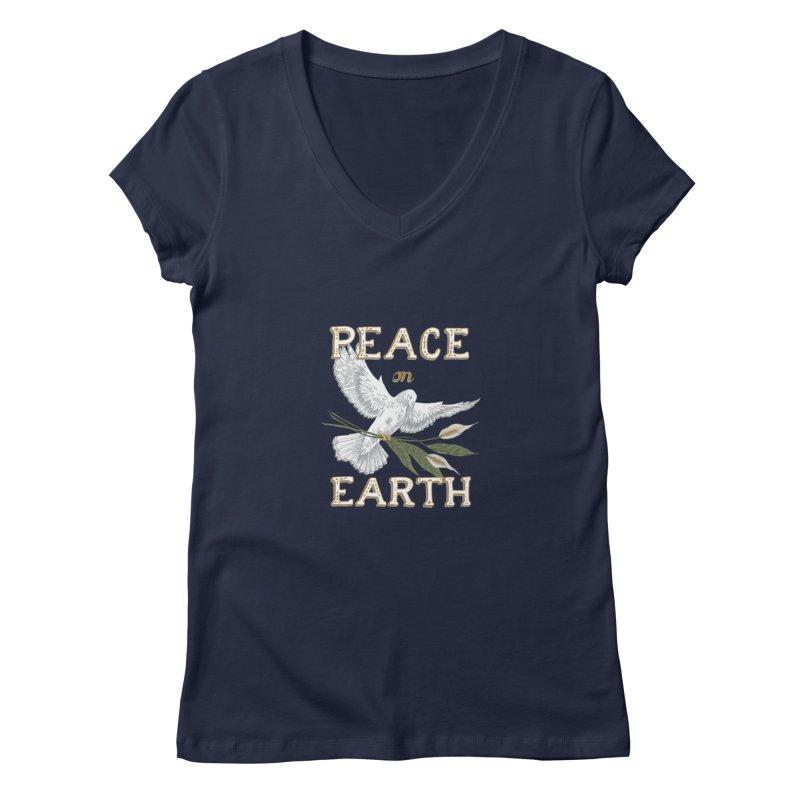 Peace Dove Women's Regular V-Neck by mwashburnart's Artist Shop