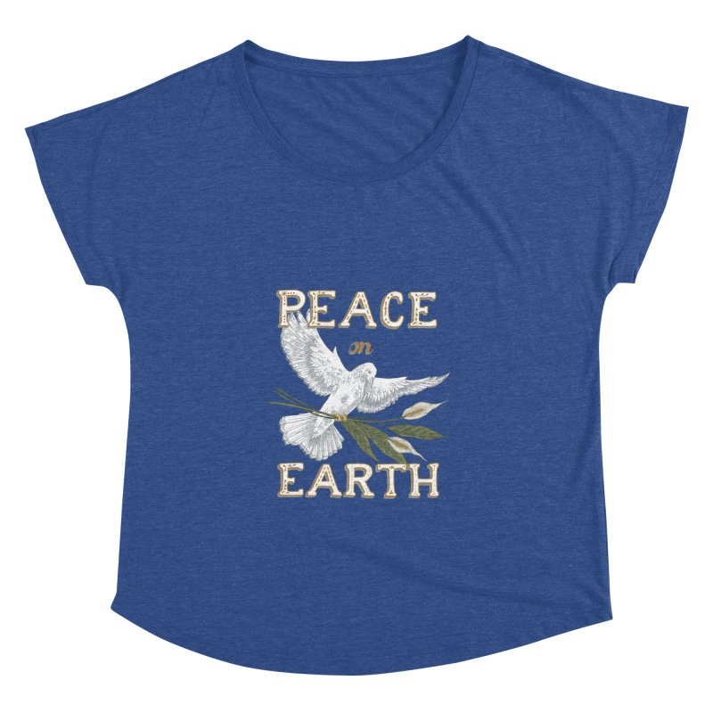 Peace Dove Women's Dolman Scoop Neck by mwashburnart's Artist Shop