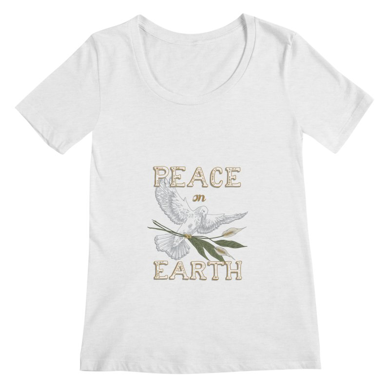 Peace Dove Women's Regular Scoop Neck by mwashburnart's Artist Shop
