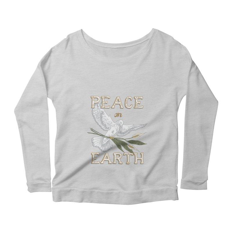 Peace Dove Women's Scoop Neck Longsleeve T-Shirt by mwashburnart's Artist Shop