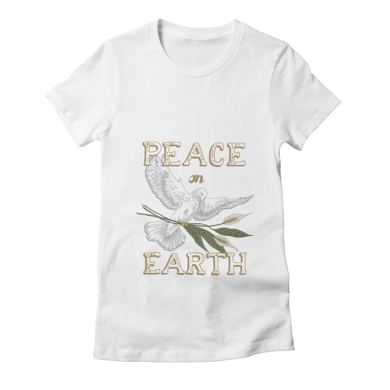 Peace Dove Women's Fitted T-Shirt by mwashburnart's Artist Shop