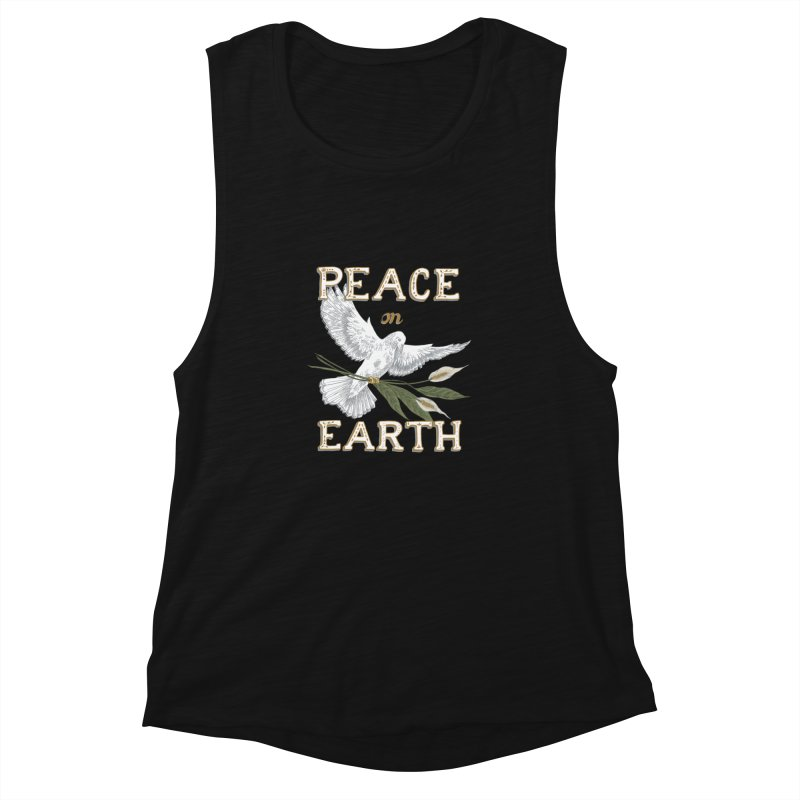 Peace Dove Women's Muscle Tank by mwashburnart's Artist Shop