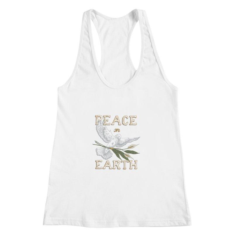 Peace Dove Women's Racerback Tank by mwashburnart's Artist Shop