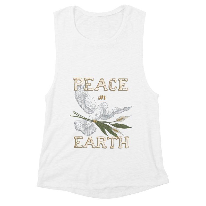 Peace Dove Women's Muscle Tank by mwashburnart's Artist Shop