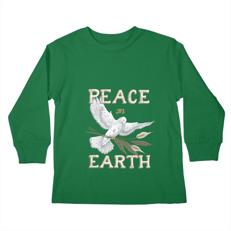 Peace Dove Kids Longsleeve T-Shirt by mwashburnart's Artist Shop