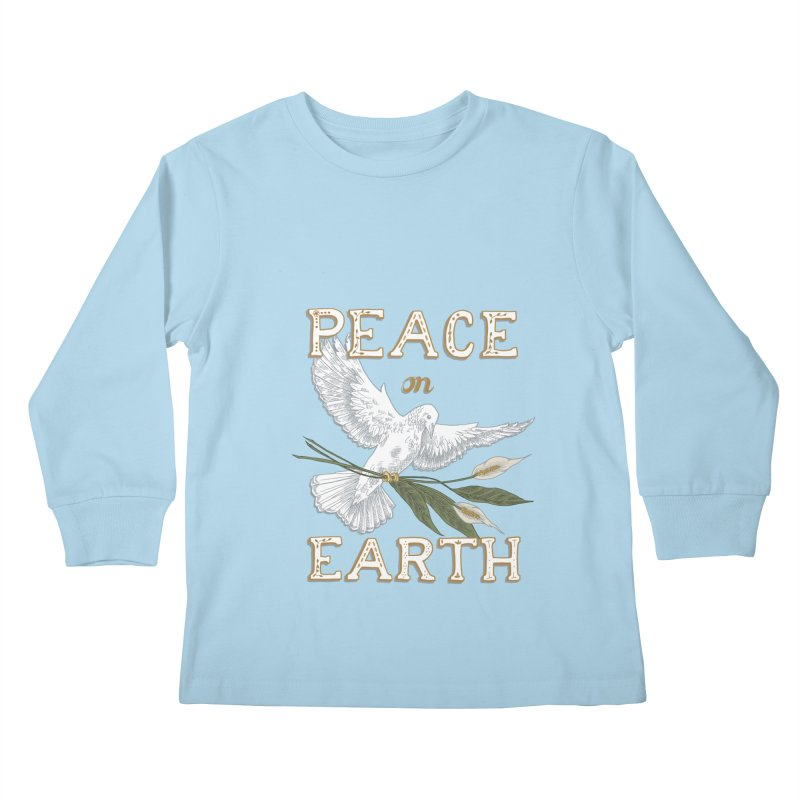 Peace Dove Kids Longsleeve T-Shirt by mwashburnart's Artist Shop