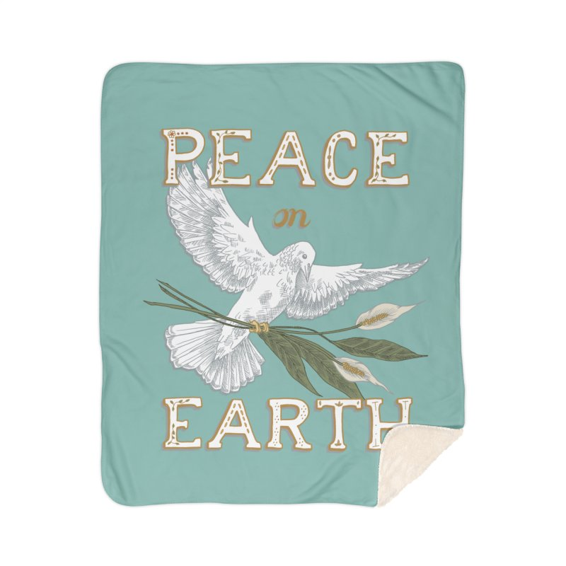 Peace Dove Home Sherpa Blanket Blanket by mwashburnart's Artist Shop