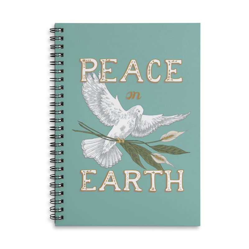 Peace Dove Accessories Lined Spiral Notebook by mwashburnart's Artist Shop