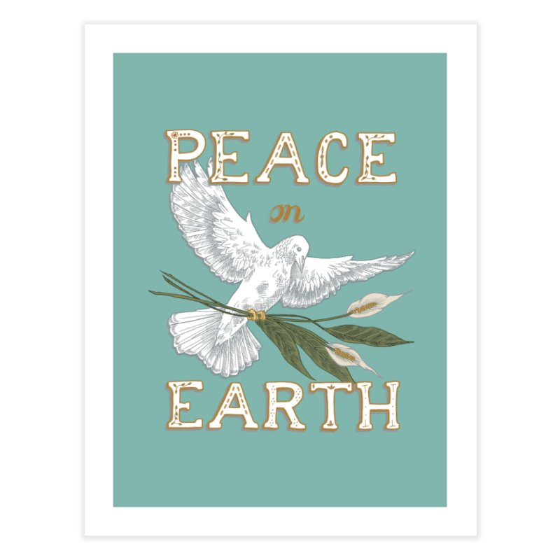 Peace Dove Home Fine Art Print by mwashburnart's Artist Shop