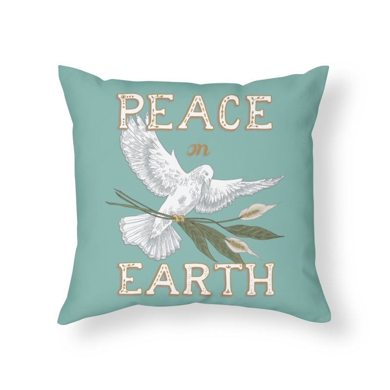 Peace Dove Home Throw Pillow by mwashburnart's Artist Shop