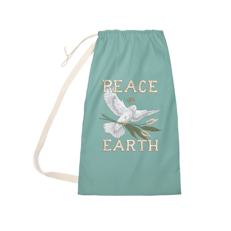 Peace Dove Accessories Laundry Bag Bag by mwashburnart's Artist Shop