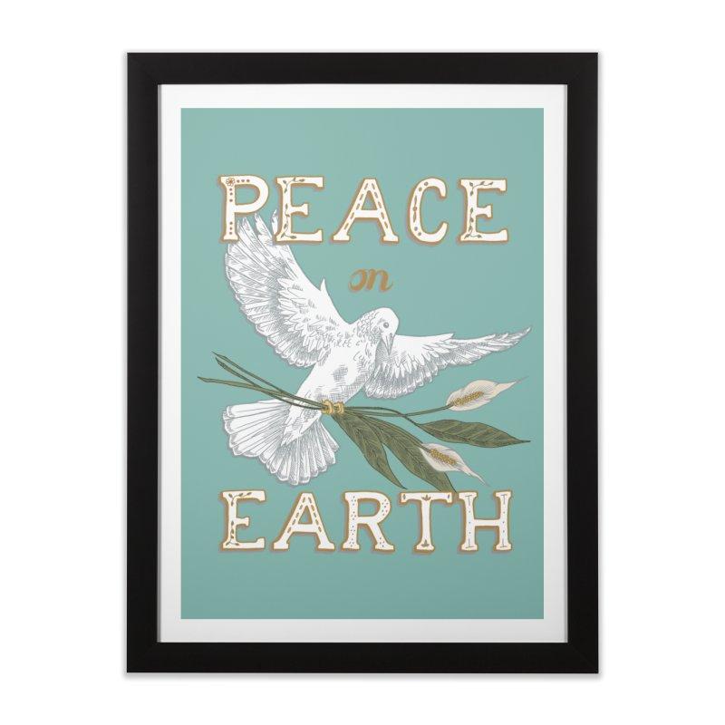 Peace Dove Home Framed Fine Art Print by mwashburnart's Artist Shop