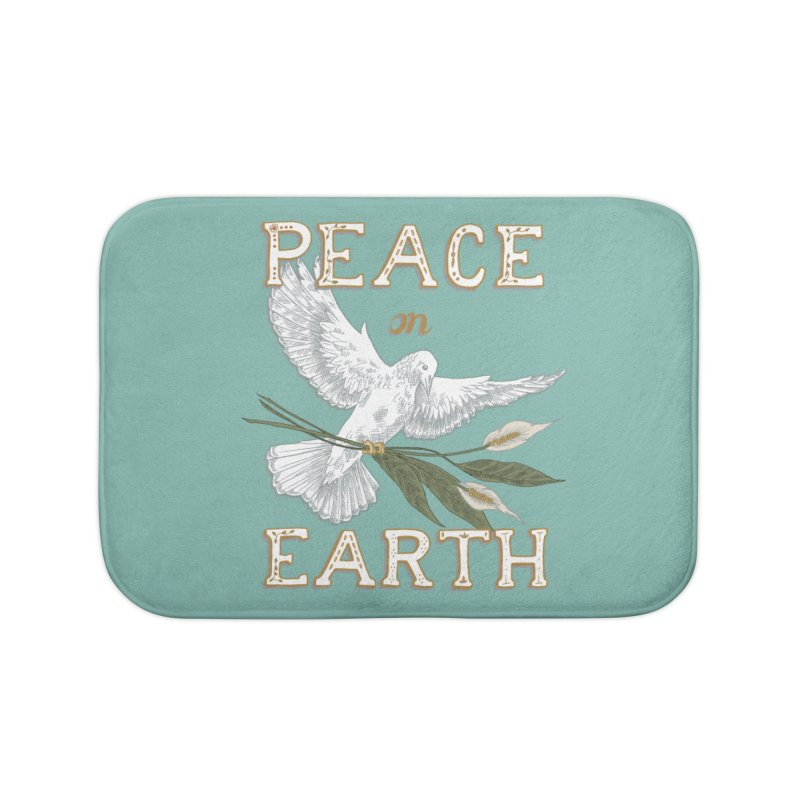 Peace Dove Home Bath Mat by mwashburnart's Artist Shop