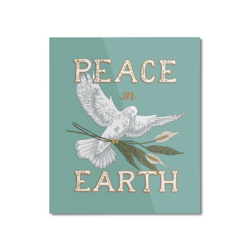Peace Dove Home Mounted Aluminum Print by mwashburnart's Artist Shop