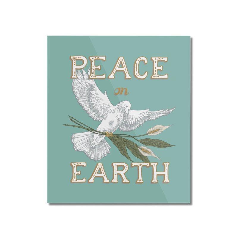 Peace Dove Home Mounted Acrylic Print by mwashburnart's Artist Shop