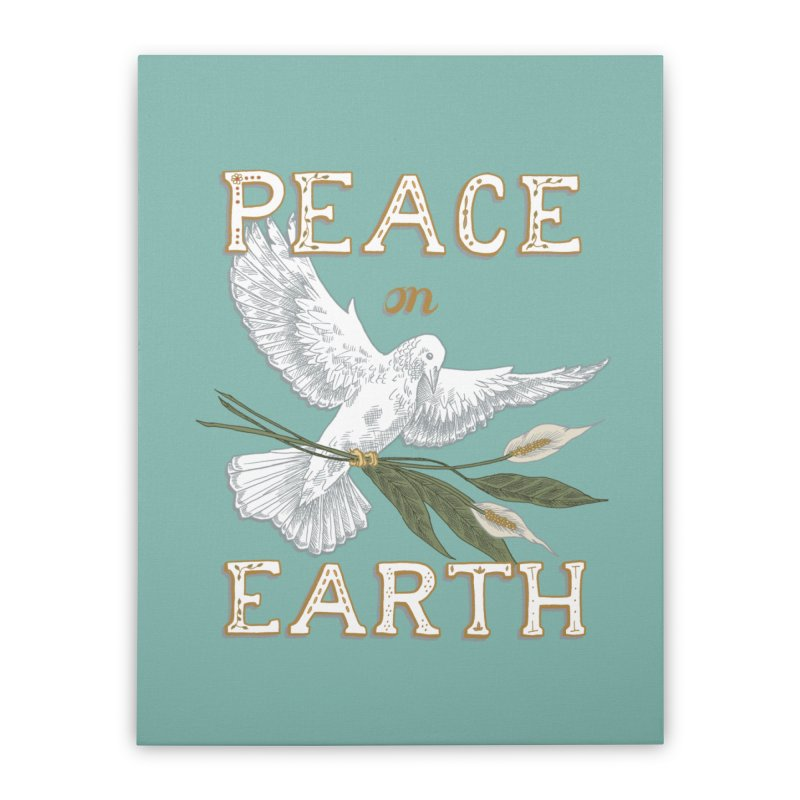 Peace Dove Home Stretched Canvas by mwashburnart's Artist Shop