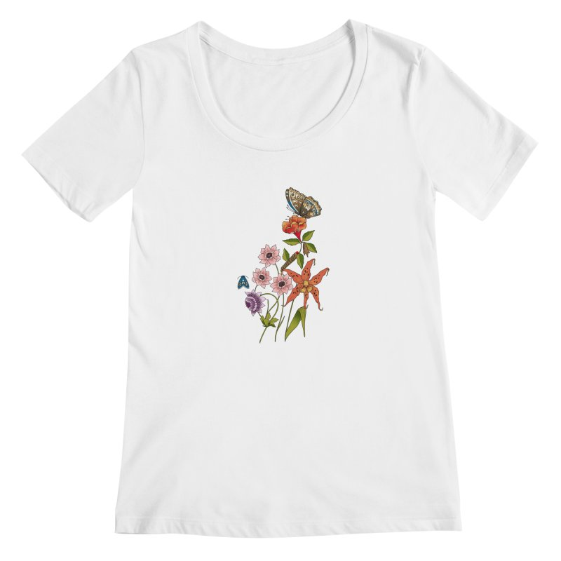 Natural History Women's Regular Scoop Neck by mwashburnart's Artist Shop