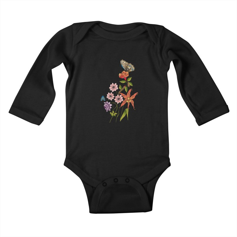Natural History Kids Baby Longsleeve Bodysuit by mwashburnart's Artist Shop