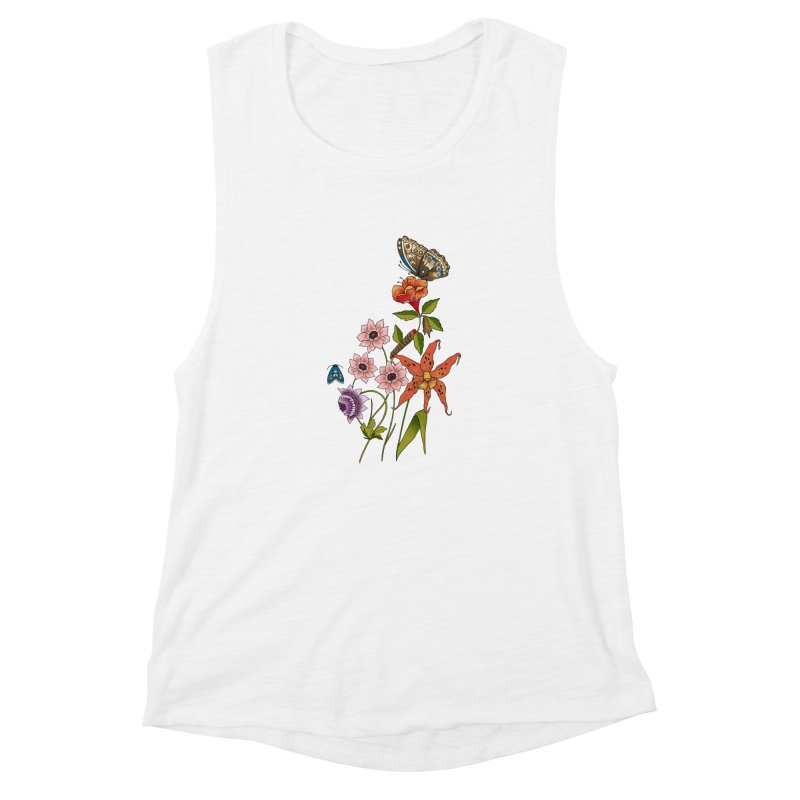 Natural History Women's Muscle Tank by mwashburnart's Artist Shop