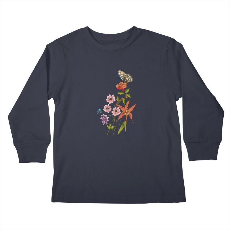 Natural History Kids Longsleeve T-Shirt by mwashburnart's Artist Shop