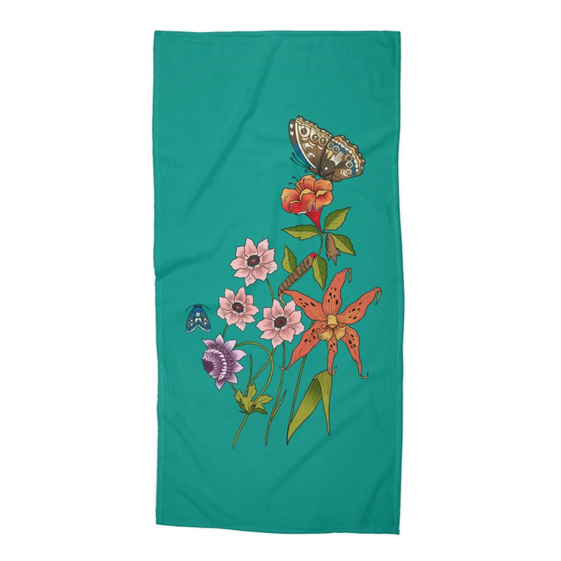 Natural History Accessories Beach Towel by mwashburnart's Artist Shop