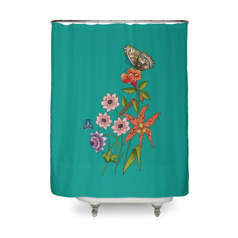 Natural History Home Shower Curtain by mwashburnart's Artist Shop