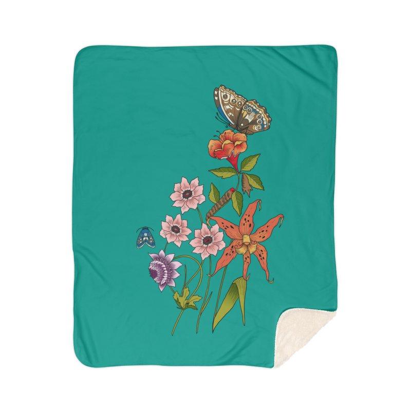 Natural History Home Sherpa Blanket Blanket by mwashburnart's Artist Shop