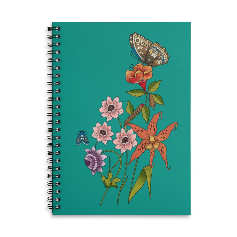Natural History Accessories Lined Spiral Notebook by mwashburnart's Artist Shop