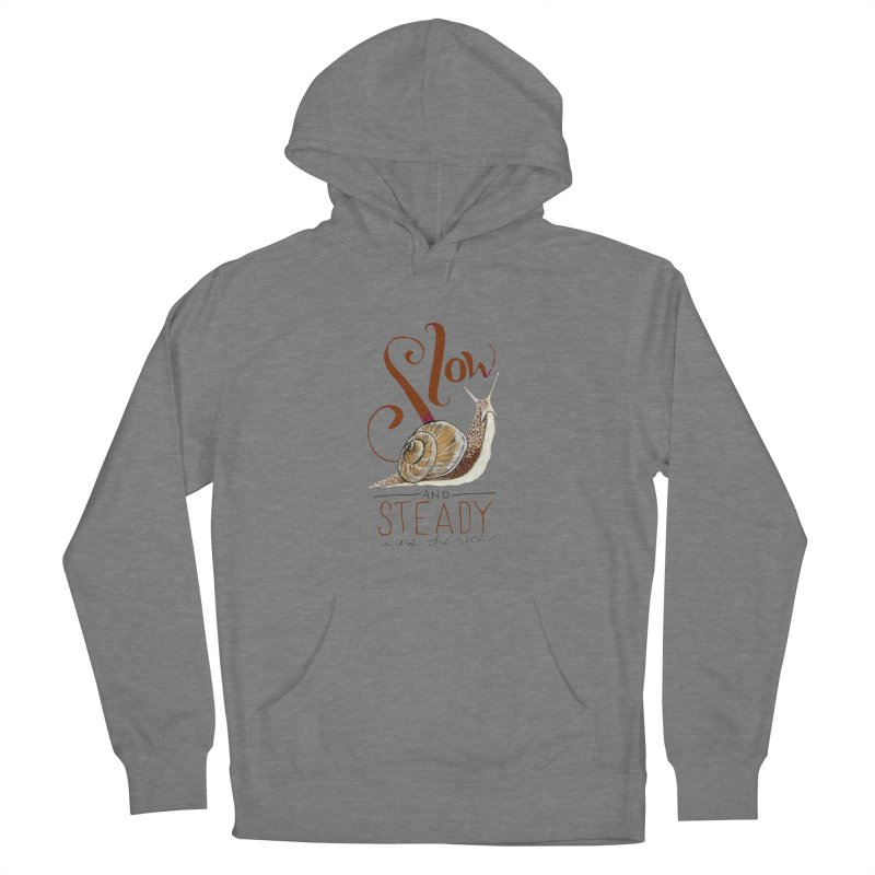 Slow and Steady Women's French Terry Pullover Hoody by mwashburnart's Artist Shop
