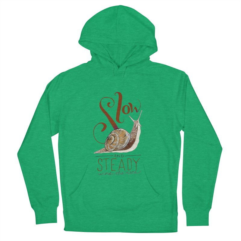 Slow and Steady Men's French Terry Pullover Hoody by mwashburnart's Artist Shop
