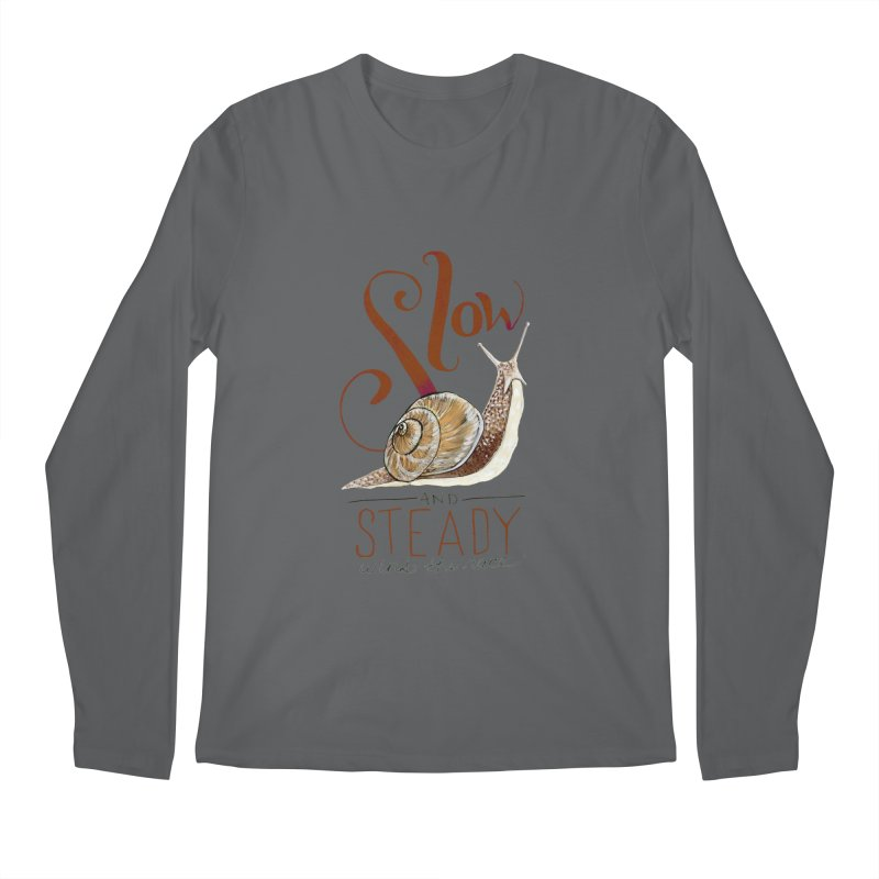 Slow and Steady Men's Regular Longsleeve T-Shirt by mwashburnart's Artist Shop