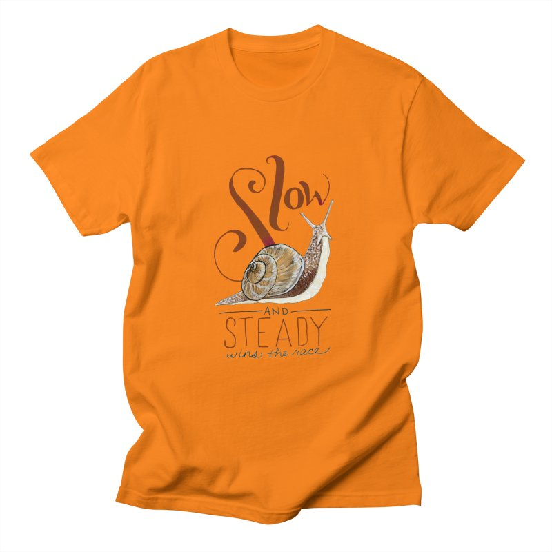 Slow and Steady Men's Regular T-Shirt by mwashburnart's Artist Shop