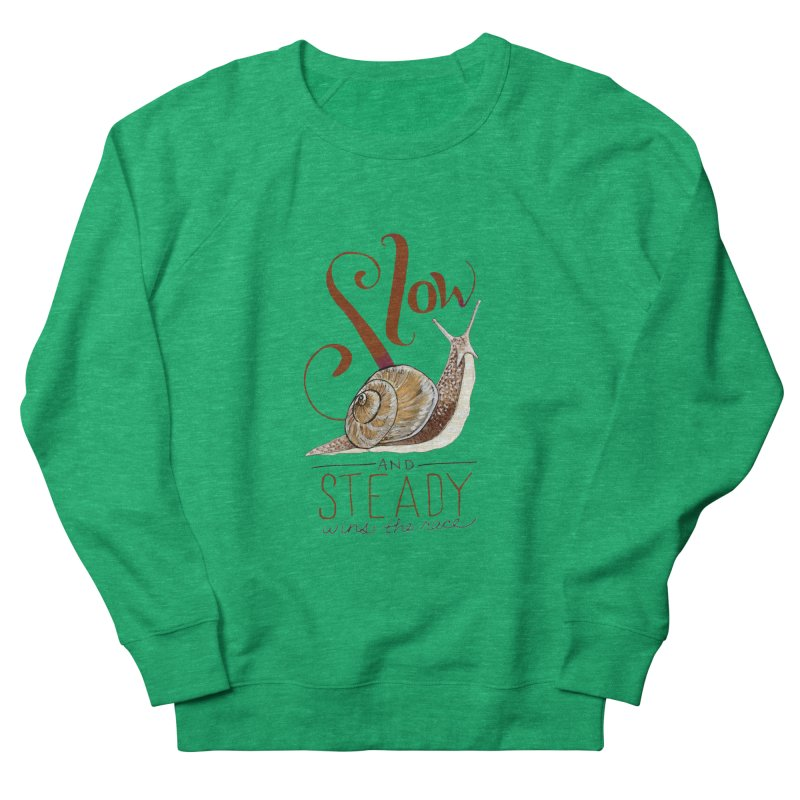 Slow and Steady Women's French Terry Sweatshirt by mwashburnart's Artist Shop