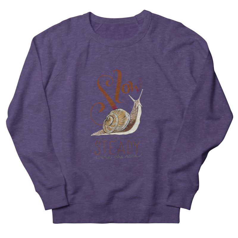 Slow and Steady Men's French Terry Sweatshirt by mwashburnart's Artist Shop