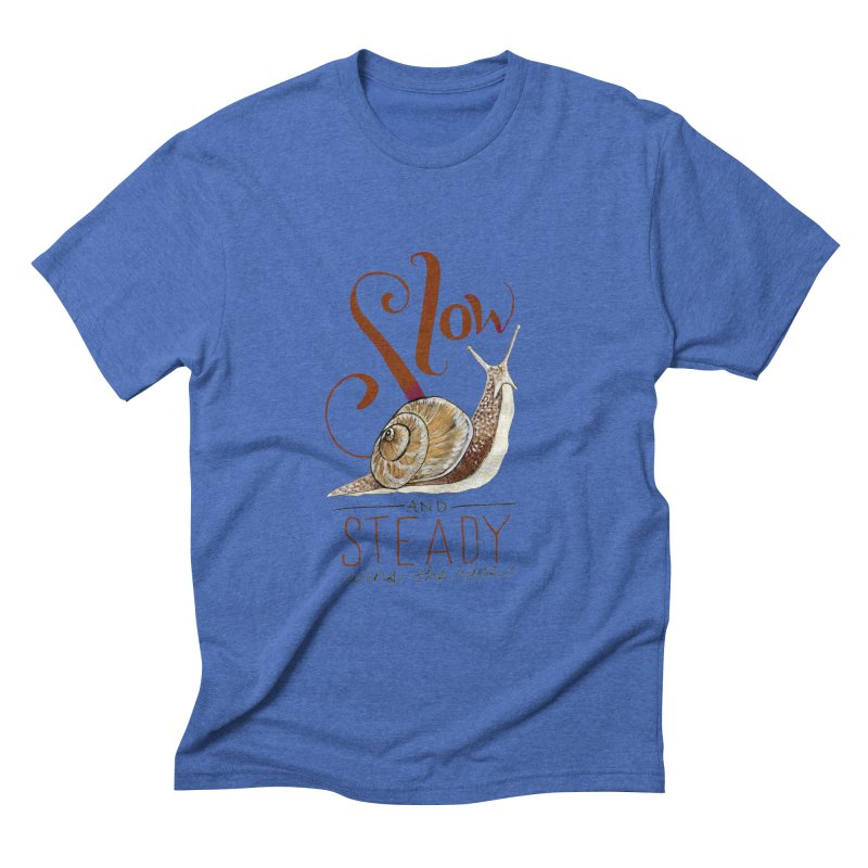 Slow and Steady Men's Triblend T-Shirt by mwashburnart's Artist Shop