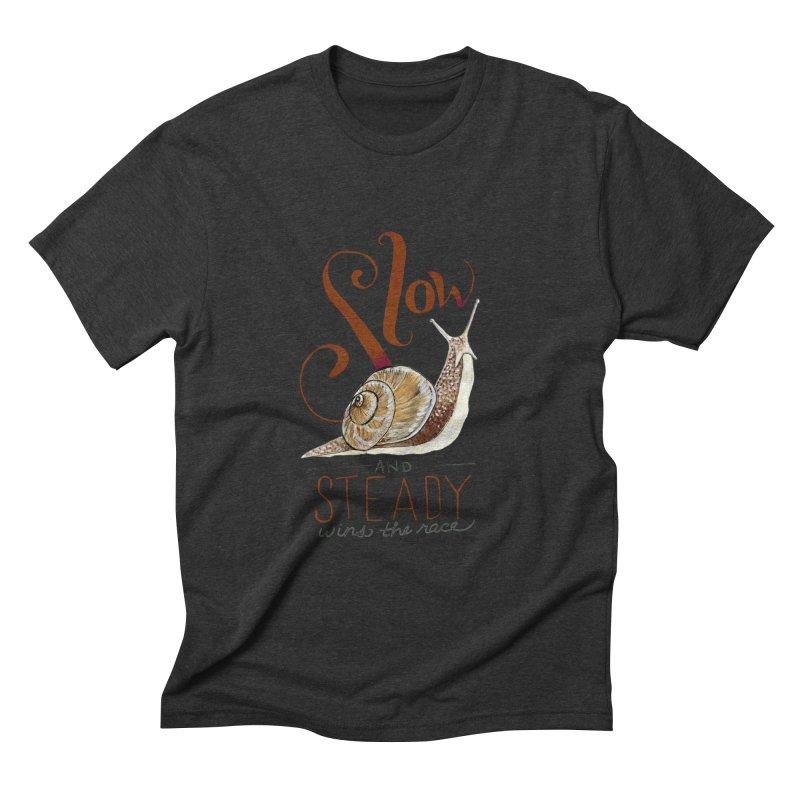 Slow and Steady Men's Triblend T-Shirt by mwashburnart's Artist Shop