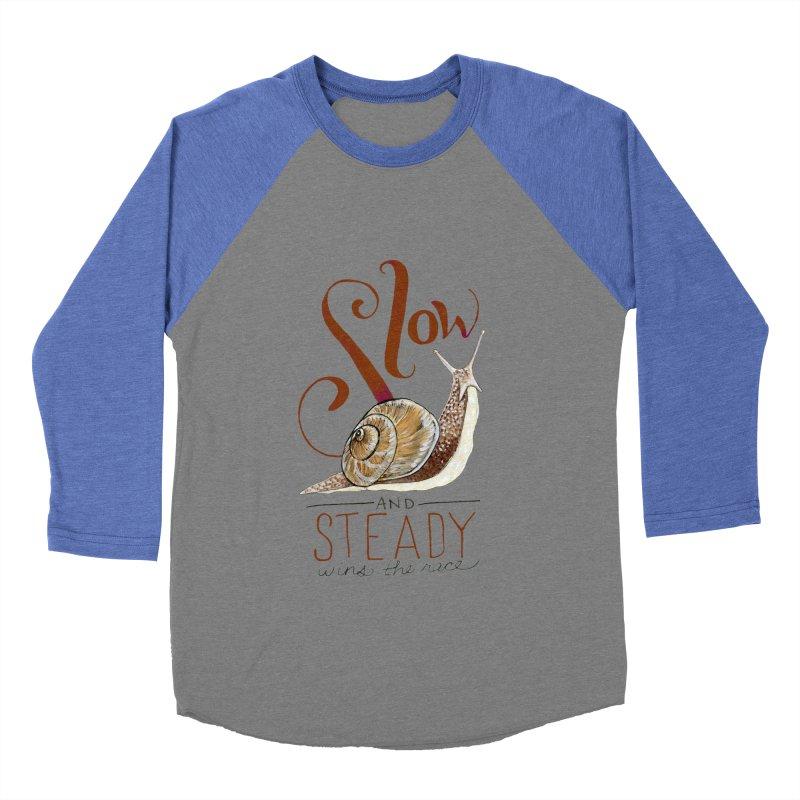 Slow and Steady Women's Baseball Triblend Longsleeve T-Shirt by mwashburnart's Artist Shop