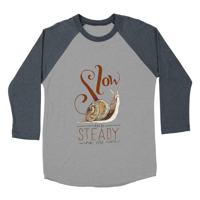 Slow and Steady Men's Baseball Triblend Longsleeve T-Shirt by mwashburnart's Artist Shop